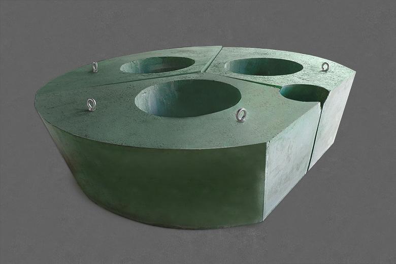 超高功率电炉炉顶三角区组合式预制件
