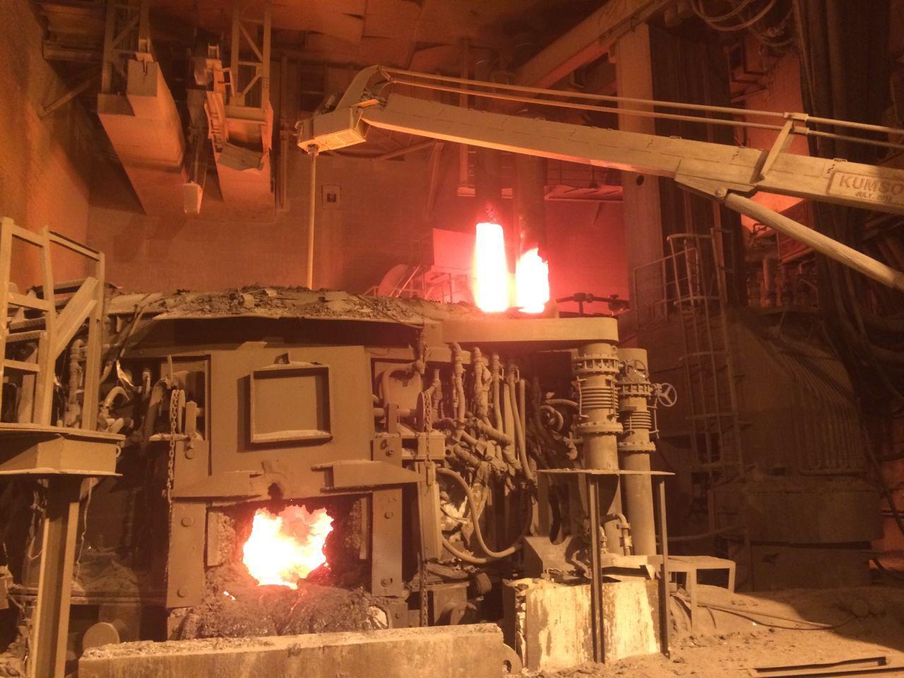 100吨电弧炉施工介绍